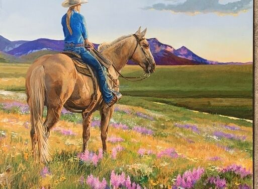 woman on horse painting