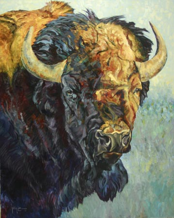 buffalo painting terry lee