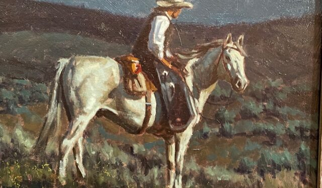 cowboy on horse painting