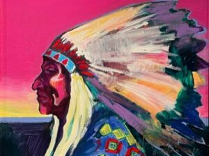 arapaho indian chief painting