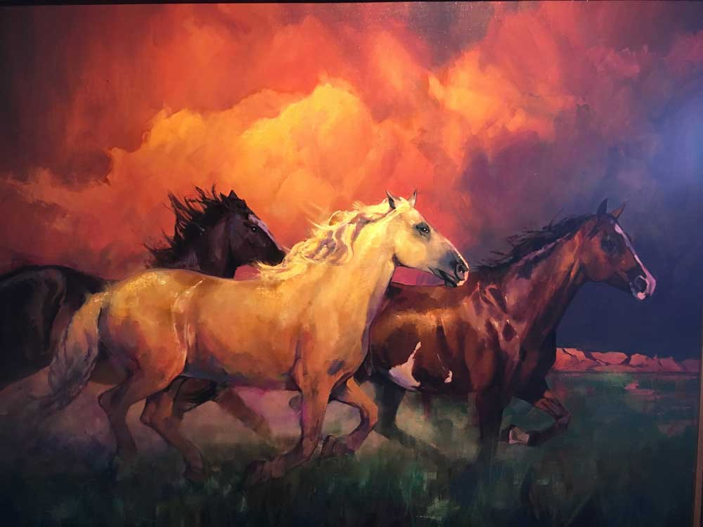 painting of horses running