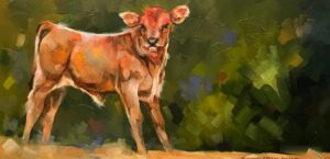 cow calf painting