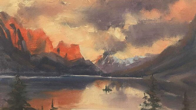 painting of Glacier National Park
